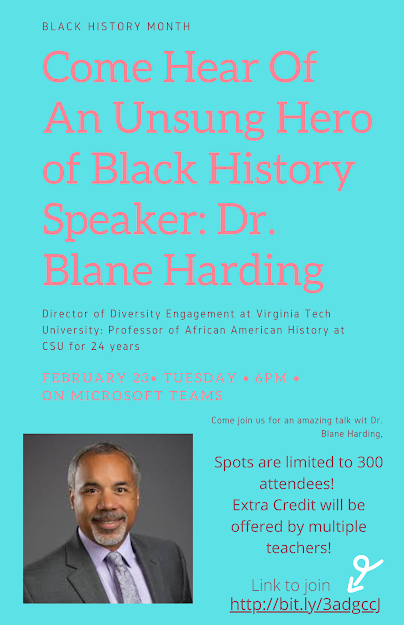 Professor to give black history talk on Feb. 23rd at 6 p.m.